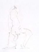 akt zeichnung mit einer linie - figürliche skizzen -  möhnesee 2016 - julian jacobs